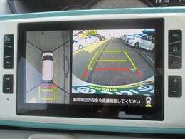 ■全方位モニター■上空から見下ろしているかのような映像を映し出し、スムースな駐車をサポートします!駐車が苦手な方でも安心ですね♪