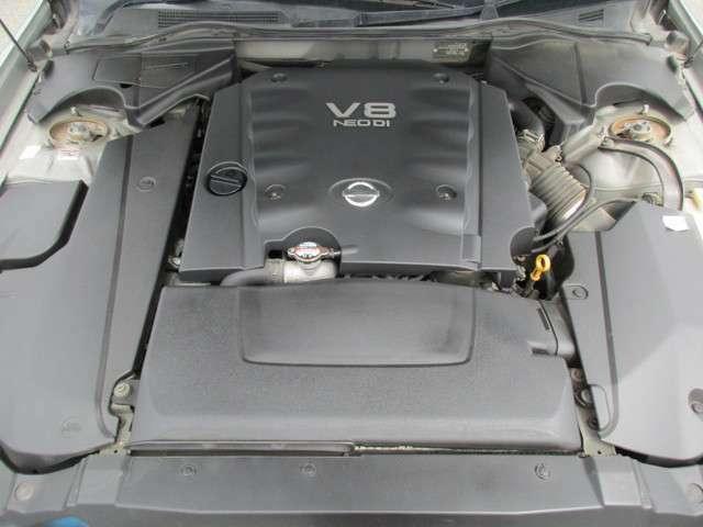 4.5LV型8気筒DOHCエンジン!