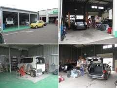 事務所横の整備工場前に、板金・塗装工場を新設!しました!