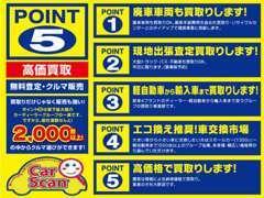☆このマークが目印!POINT5は県下最大級のディーラーグループの一員です!1500台以上の中からクルマ選びができます!