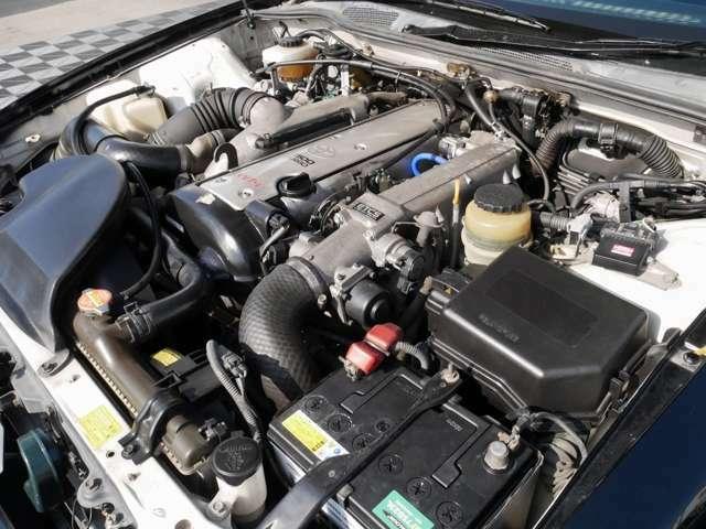 トヨタの1JZエンジン☆ターボ☆ブーストコントローラー付きですので、パワフルな走りをお楽しみください☆
