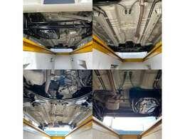 下廻りの画像です。サビ・腐食等なくとても綺麗な車両です。防錆処置も施しております。