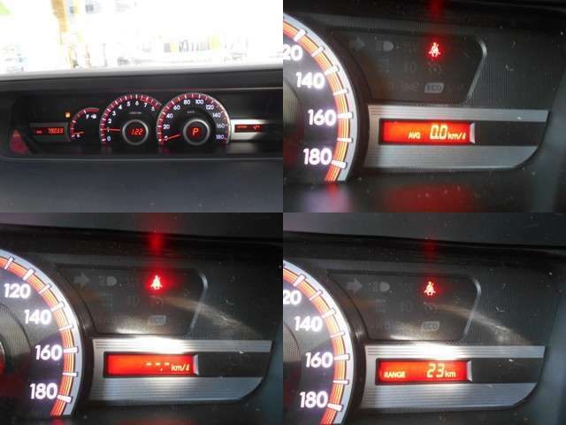 メーターは燃費計の状態等も表示可能!