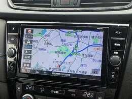 日産オリジナルナビゲーション。9インチの大画面なら、地図や周囲の状況が大きく見える。CD・DVDはもちろん、Bluetoothも対応しております。