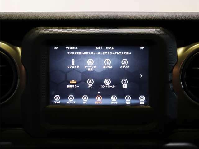 Jeep ユーコネクト7インチタッチパネルモニター!空調や車両設定なども操作が可能です!