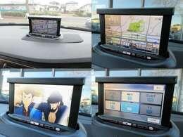 格納可能な純正HDDナビが装備されております♪画面もクリアで運転中も確認しやすいです♪フルセグTVの視聴もお楽しみ頂けます♪ミュージックサーバーも搭載されておりますのでお好きな音楽を録音してください♪
