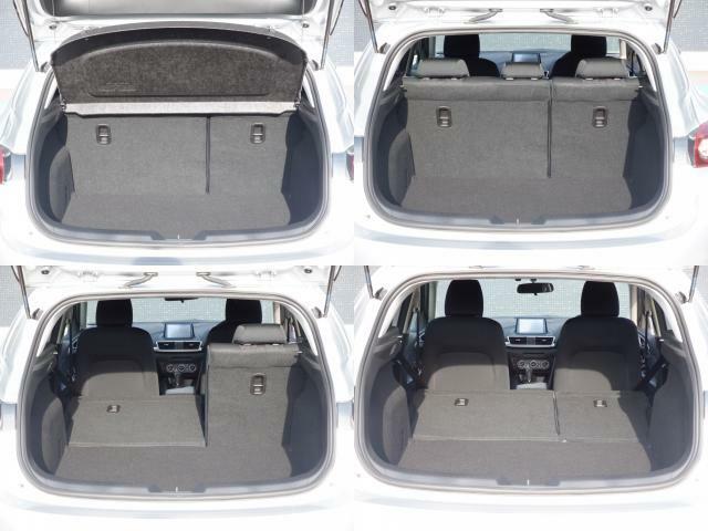 ラゲッジスペースは乗車人数やお荷物の大きさでアレンジ出来るので多目的用途に対応可能でございます。