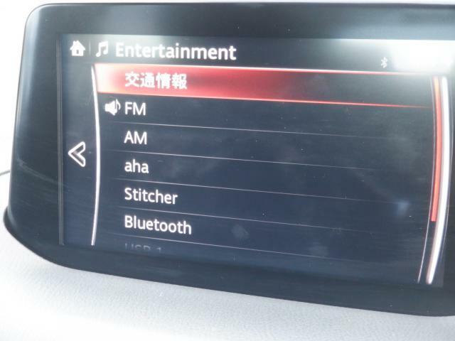 オーディオソースメニュー画面です。Bluetooth接続も可能です!!
