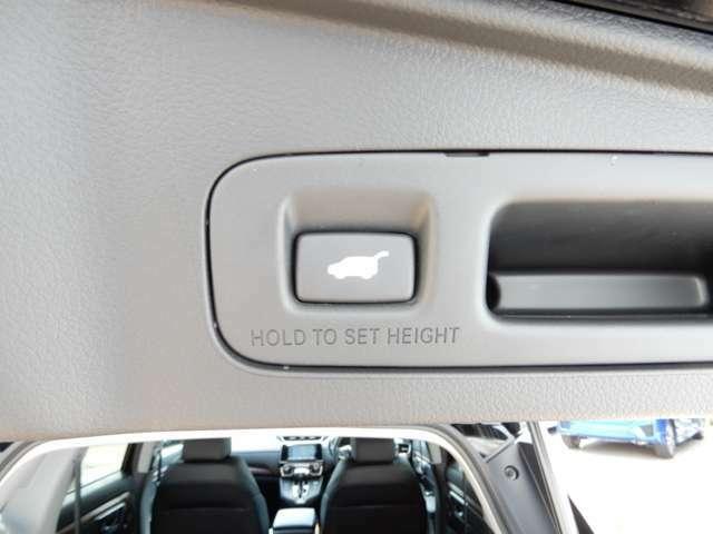 テールゲートを開けたところにも、電動リアゲートのスイッチがついています。