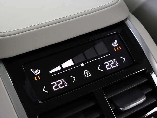 リアシートにもシートヒーター&エアコン調整機能を搭載。4席全てで独立した温度調整が可能。ショーファーカー/リムジンに比肩する寛ぎがそこに。
