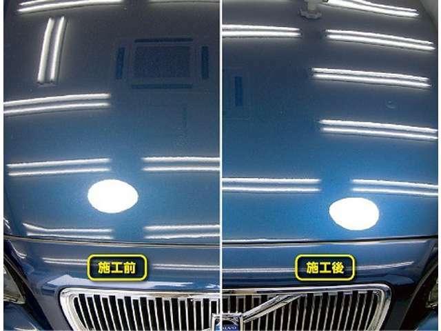 Bプラン画像:ボディーコーティング施工パックです。油膜や水垢はもちろん、撥水効果充分!!是非、実感して下さい。これで洗車も楽々で日々、輝きを感じられます^^です。