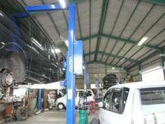 納車整備もアフターも安心、自社整備工場完備!