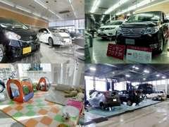 ショールームには人気の軽自動車やミニバンなど話題の新型車を展示♪試乗車もご用意しておりますので、ぜひお越し下さい。