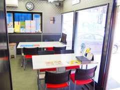 商談スペースです☆綺麗に清潔に、お客様の御来店をお待ちしております!!