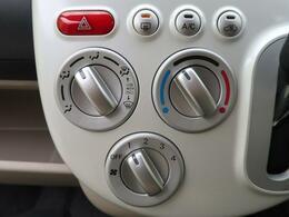 ダイアル式のマニュアルエアコンです☆なじみのある形なので扱いも簡単ですね♪