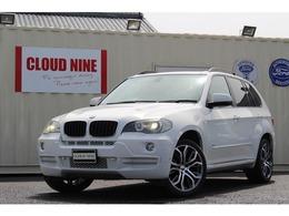 BMW X5 3.0si 4WD パノラマSR同色P新品20AW黒革純ナビ