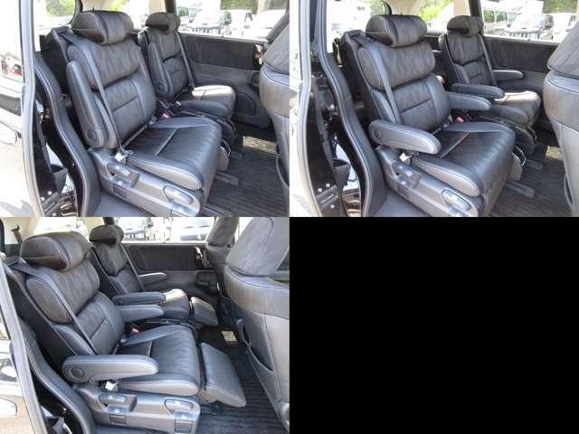 セカンドシート アームレスト&オットマン付プレミアムクレードルシートで、ロングドライブも快適です。