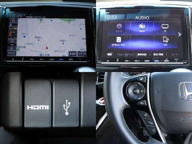 地デジ付ギャザズ9インチプレミアムインターナビ&CD&MP3&DVDビデオの組み合わせで、SDに録音が可能です。 USB&HDMI&BTオーディオで色々なポータブル機器にも対応し、ハンズフリーフォンの使用も可能です。