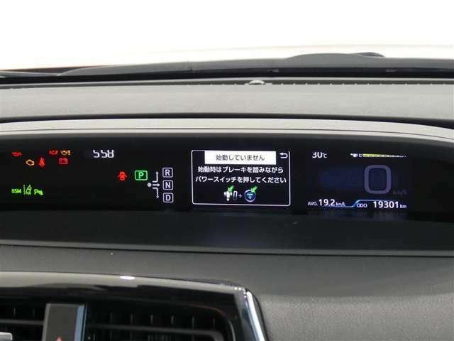 視線移動が少なく、疲れにくいセンターメーターをはじめ、インパネ中心部にまとめた運転席まわりです。