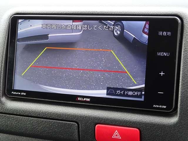 後方の安全確認や駐停車に便利なカラーバックモニターが装備されています。