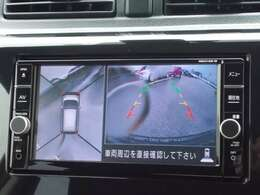 【アラウンドビューモニター】車を上空から見ているように表示され、直感的に周囲の状況を把握できます!狭い場所の駐車もラクラク安心!