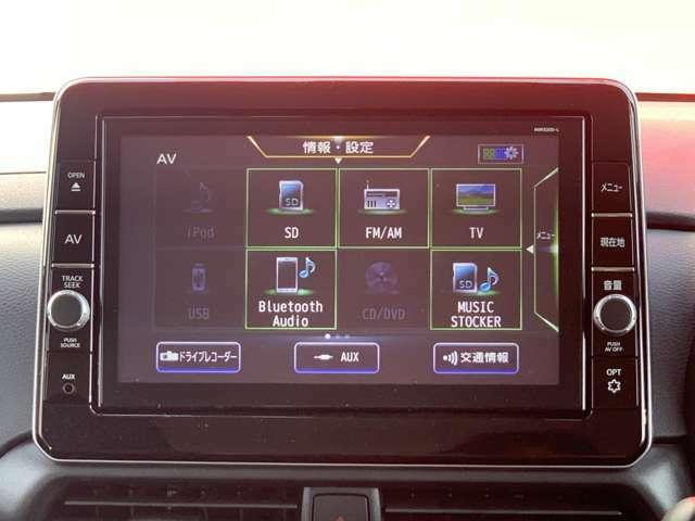 CDやDVD再生機能付なので車内を退屈させません