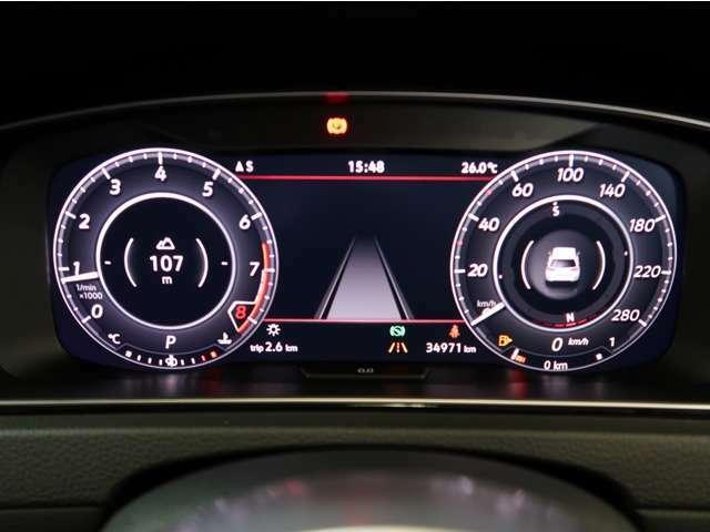 スピードメーター表示もアレンジ可能。