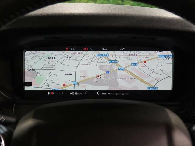 ◆バーチャルインストゥルメントパネル『フルスクリーンの3Dマップの表示が行えます。』レンジローバーヴェラールのドライビングの喜びを一層高める機能です。