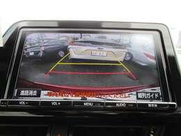 バックモニター付き♪シフトをバックに入れると自動的にバックカメラからの後ろの映像と駐車時の目安となる固定ガイド線を表示。スムーズな駐車をサポートします♪狭い駐車場や車庫入れの際に大活躍♪