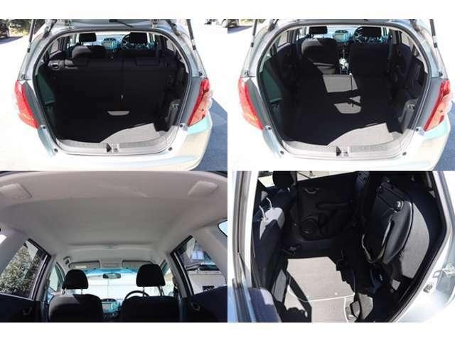 コンパクトカーなのにこの広々とした荷室一度現車確認でご確認ください♪