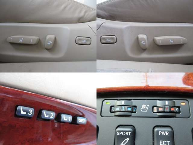 前席はパワーシートですので、ドライブポジションの微調整も楽々です。季節に応じて使い分け可能なシートヒータークーラー付☆