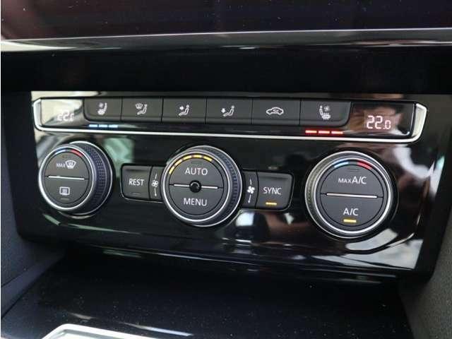 運転席と助手席、別々に温度調整か出来る2ゾーンフルオートエアコンです