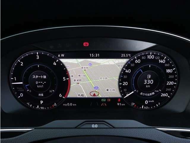 デジタル液晶メーター(Active Info Display)採用の車両です