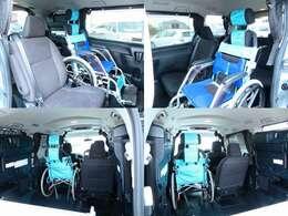 ご乗車例!2列目乗車のお車ですので、介護がし易いのがこちらのお車の特徴です!