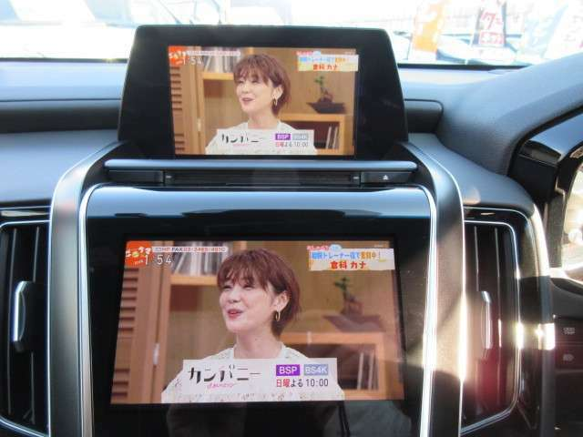操作ディスプレイ&オーディオディスプレイ♪ 操作ディスプレイにもTVなどを表示させることもできます♪