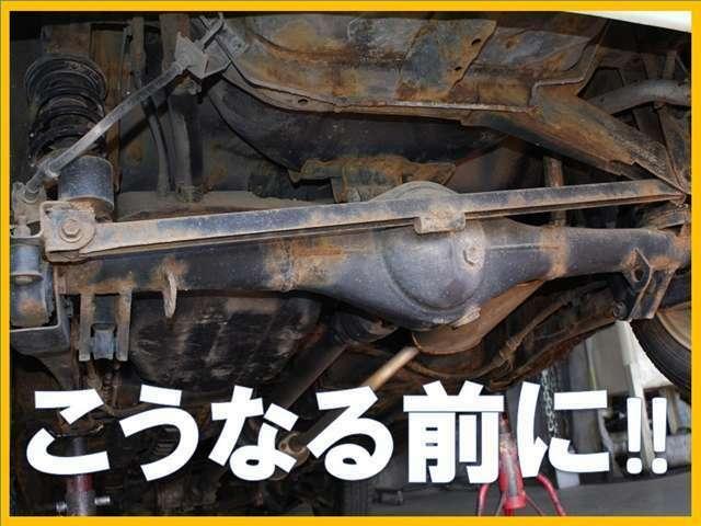 Aプラン画像:ノックスドールは防錆の先進国スウェーデン製で、歴史はなんと80年。  ボルボ社の新車ラインでも採用されており、日本国内での年間施工実績は10万台に上ります。 ◆工程は下回りの高圧洗浄、乾燥から始まります◆