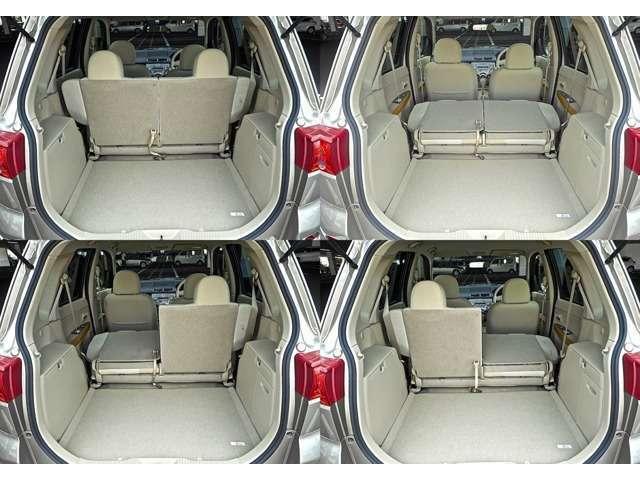 Aプラン画像:ラゲッジスペースはリヤシートを倒せば広大なスペースとなります。