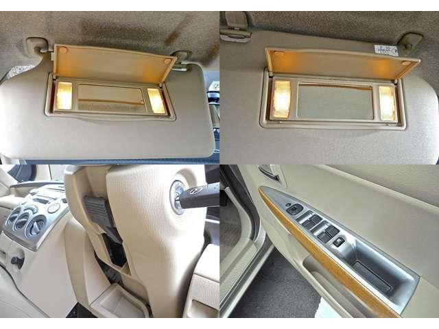 CozyPKGですのでD/N席照明付バニティミラー&シルバードアトリムスイッチも装備されております。