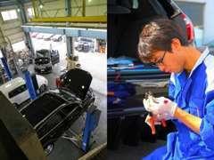 納車前の整備、納車後の整備も国家資格を取得している自動車整備士がまごころ込めて対応させて頂いています。