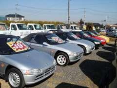 ■ホンダの名車【ビート】も得意!他にもお買得な■未使用車■軽バン・トラックも入庫!ネットに掲載されていない車両も多数!