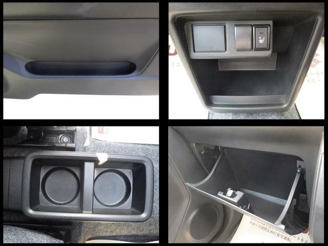 ドライブに便利な収納スペースを豊富に用意しています。ショッピングフックやドリンクホルダーや小物入れなど便利です♪