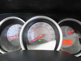 スピードメーターがセンターに配置され見やすく為っています。