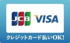 各種クレジットカード対応しています。