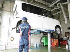 ▼国家資格整備士がお客様の大切なお車を整備します。日常のメンテナンスはもちろん、車検・鈑金などもお任せください!