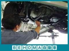 国家資格を有する整備士が1台1台丁寧に整備を行ってからご納車致します。