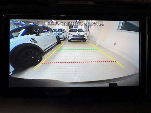純正バックカメラもそのままナビに連動して使用できます。