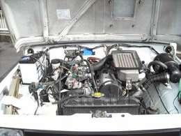 F6Aエンジン、機関良好、TベルトWポンプ交換、カム、クランクシール交換、圧縮圧力測定済、