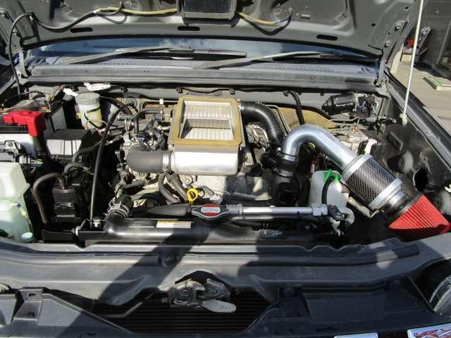 パワフルなターボエンジンです。