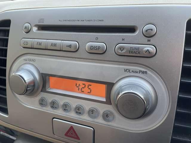 純正オーディオがついておりますのでCDやラジオの再生が可能でございます♪お気に入りの音楽を流しながらドライブも楽しめますね♪
