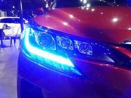 エンジン始動時にはオープニングライトとして青色に光ります!そこから、徐々に白色に変わりますので、車検対応となっております!